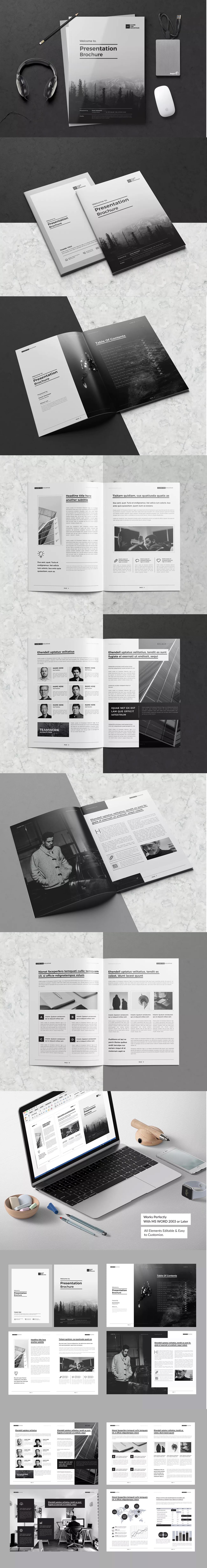 Presentation Brochure Template InDesign INDD A4 | Brochure Templates ...