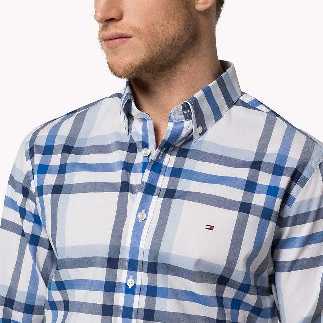 b04be78645e25 Tommy Hilfiger Camisa De Ajuste Entallado De Cuadros - dutch navy-pt    placid blue-pt  classic (Azul) - Tommy Hilfiger Camisas Casuales - imagen  secundaria ...