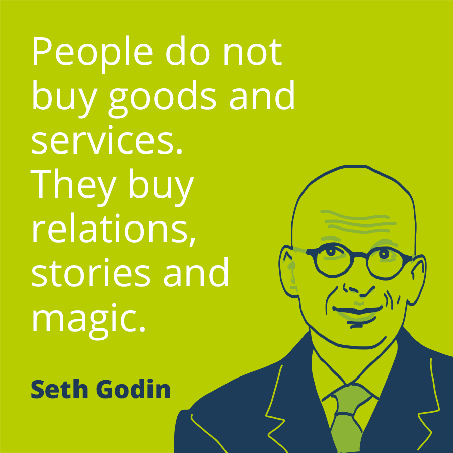 People Do Not Buy Goods And Services. They Buy Relations