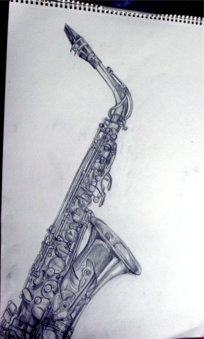 saxophone sketch google search