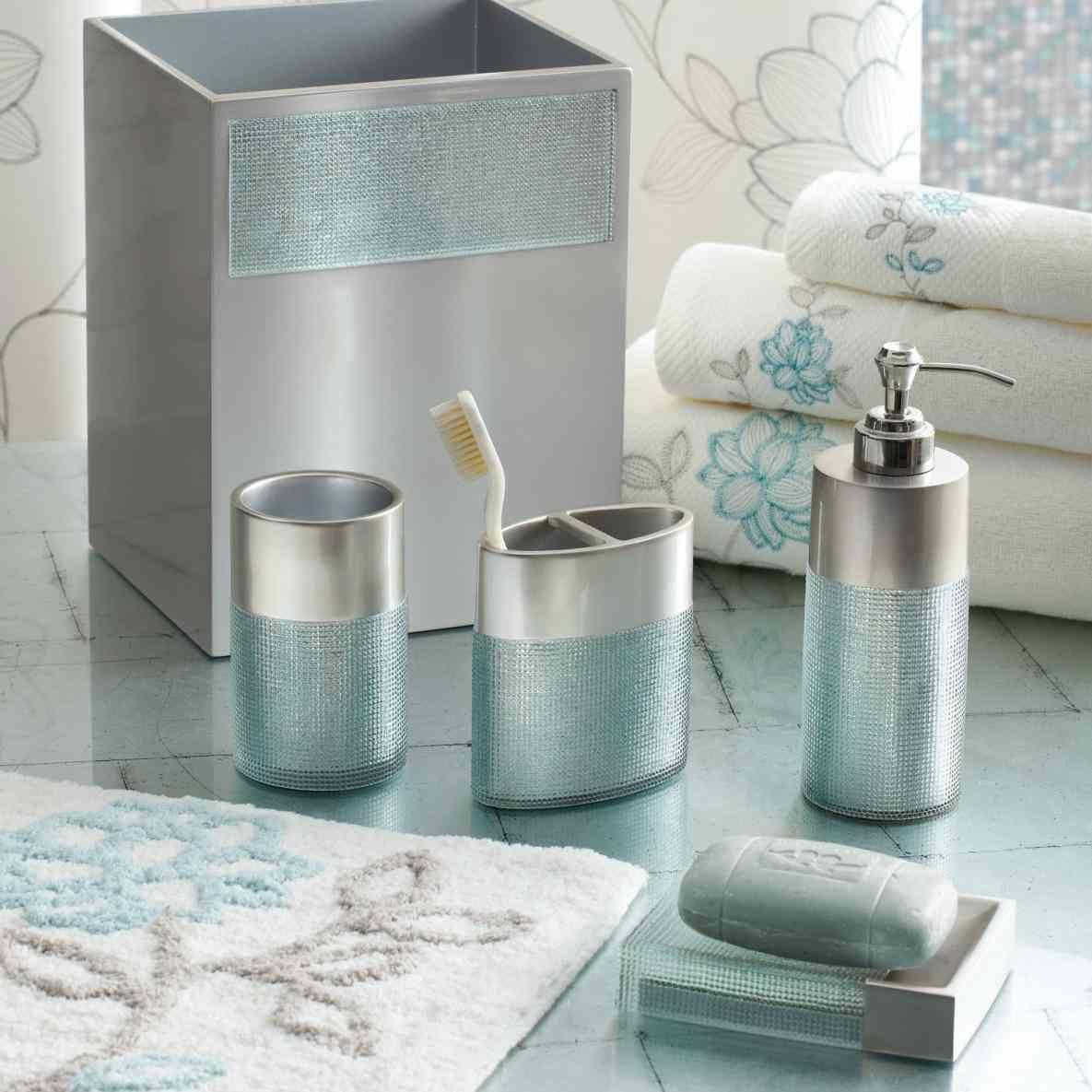 New Post aqua coloured bathroom accessories