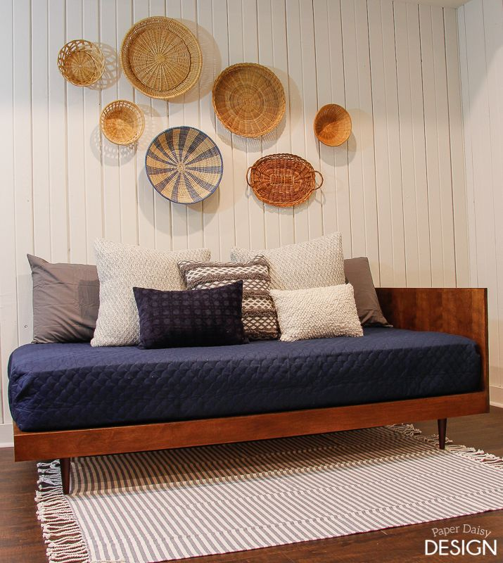 Plywood Mid Century Modern Daybed Diy Deeplysouthernhome Diy Daybed Mid Century Modern Daybed Modern Daybed