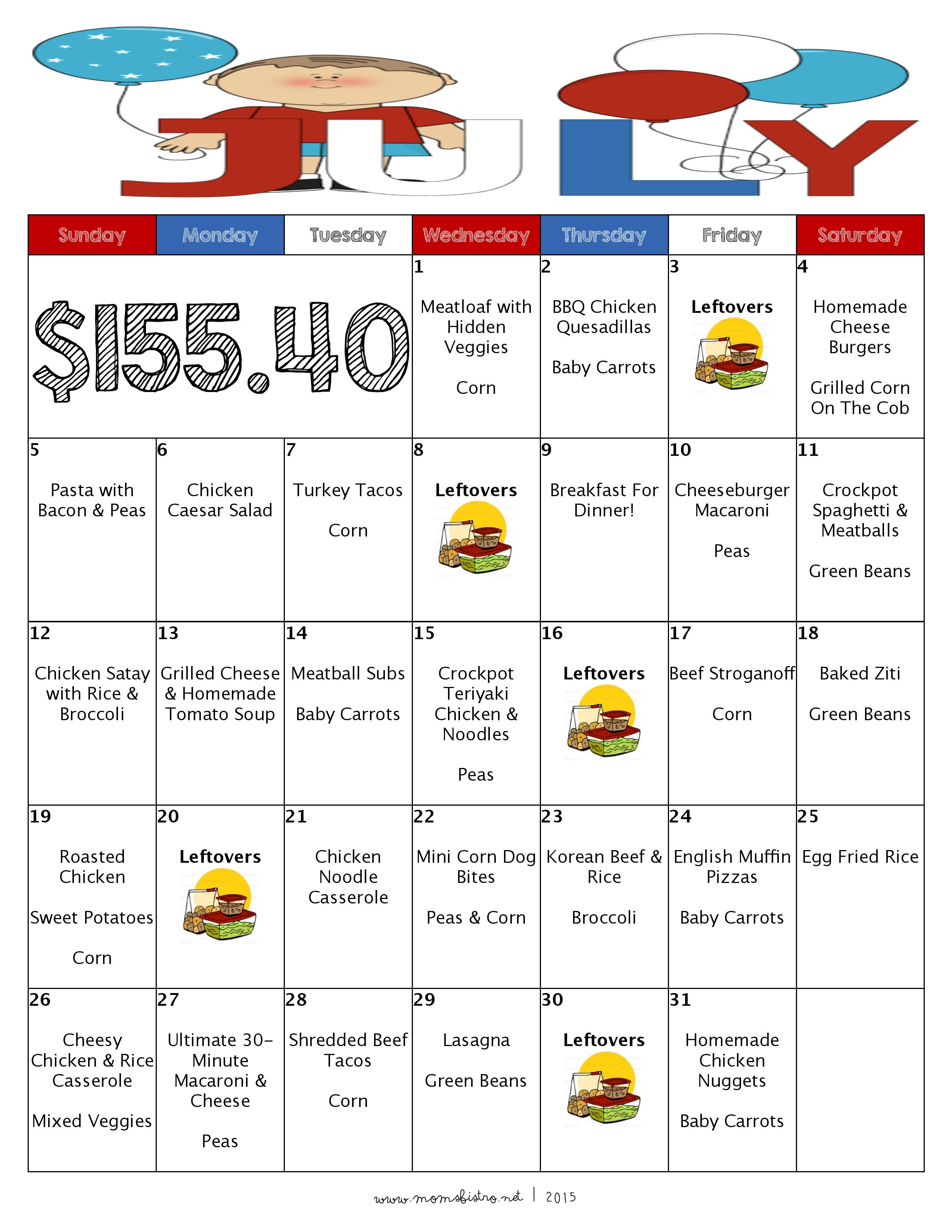 Free money saving weekly meal plans printable plans with family - Over The Past Six Months I Have Been Sharing Monthly Dinner Meal Plans With Free