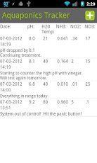 Aquaponics Tracker Android App.