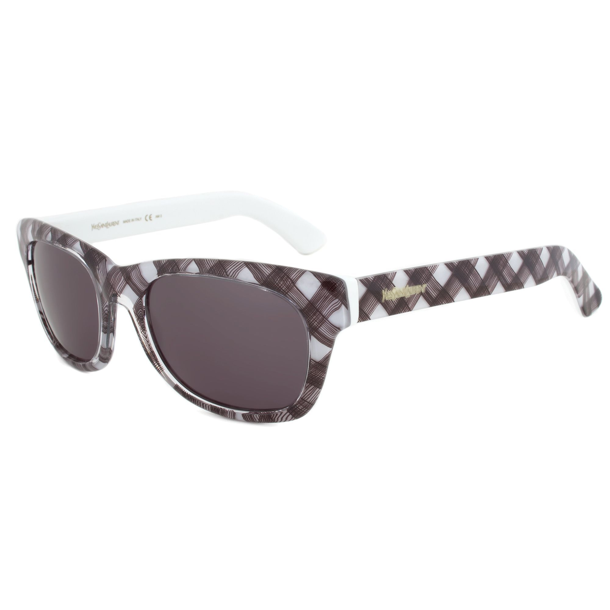 eb19eb9104 Yves Saint Laurent YSL 2321  IS8R6 Wayfarer Sunglasses with a Frame and  Grey Lens