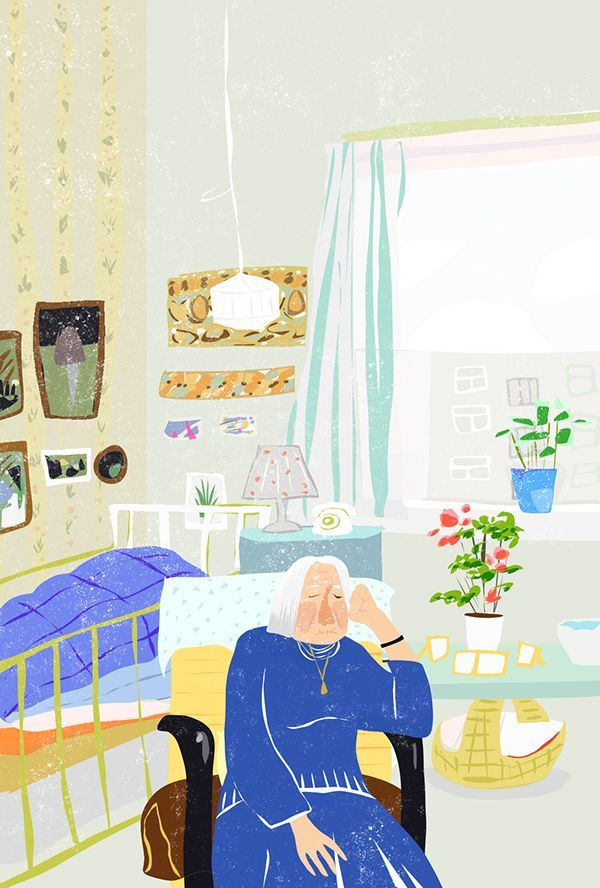 old lady on Behance