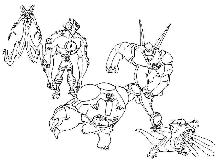 ben 10 ultimate coloring pages alien force | Cartoon | Pinterest ...