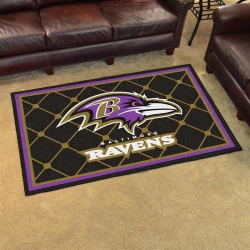 Baltimore Ravens Area Rug Carpet Flooring 4x6