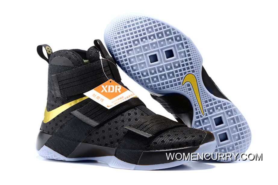 new style 4017d 5b50d ... usa womencurry nike lebron soldier 10 finals id black gold online.html nike  lebron soldier