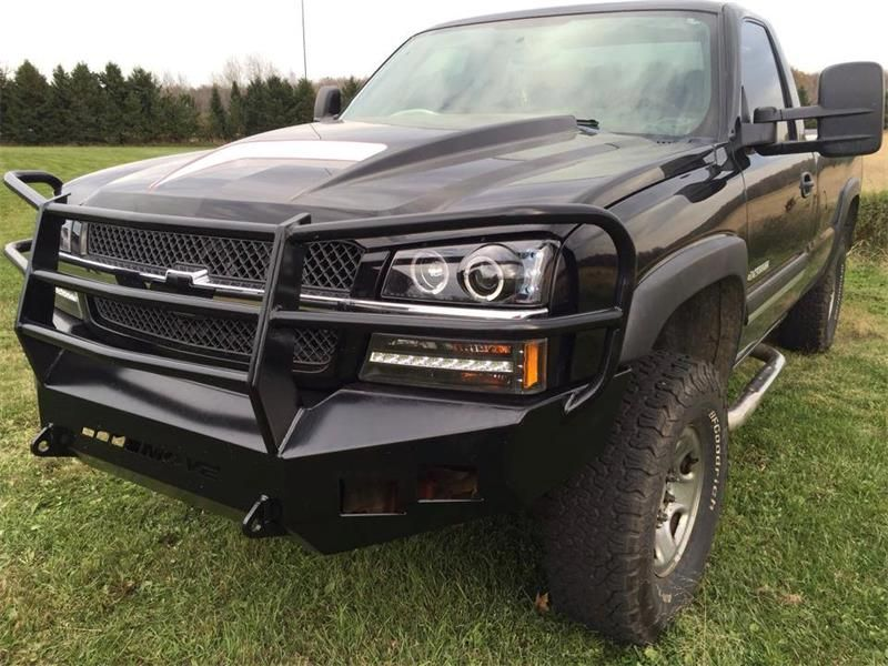 Customizable Wiy Front Bumper Full Grill Chevy 2500 3500 2003