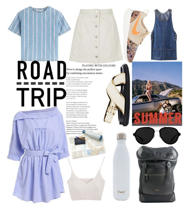 """Summer Road Trip"" by indhrios ❤ liked on Polyvore featuring T By Alexander Wang, Topshop, Marni, 3.1 Phillip Lim, Givenchy, NIKE, S'well and roadtrip"