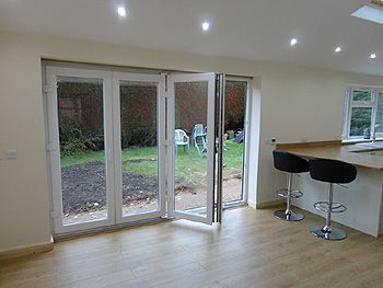 The UPVC Bi Fold Doors Opening Before And After Gallery This Is