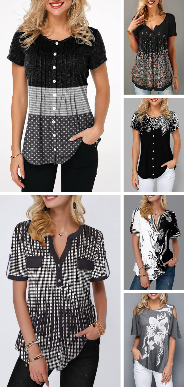 Advertisements Embrace summer with today's black blouse. These designs are comfy but breathable, perfect for warm weather of spring months. Summer blouse will fit into your new, refreshed wardrobe perfectly. #summerwardrobe