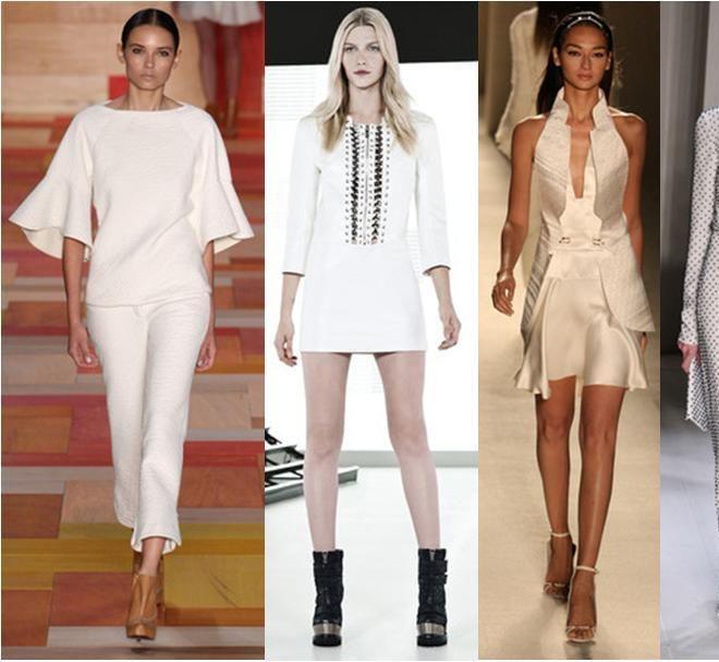 A cor branca promete dominar o guarda roupa das mulheres em 2014. Especialmente nas temporadas mais quentes do ano. O branco é uma cor super versátil e