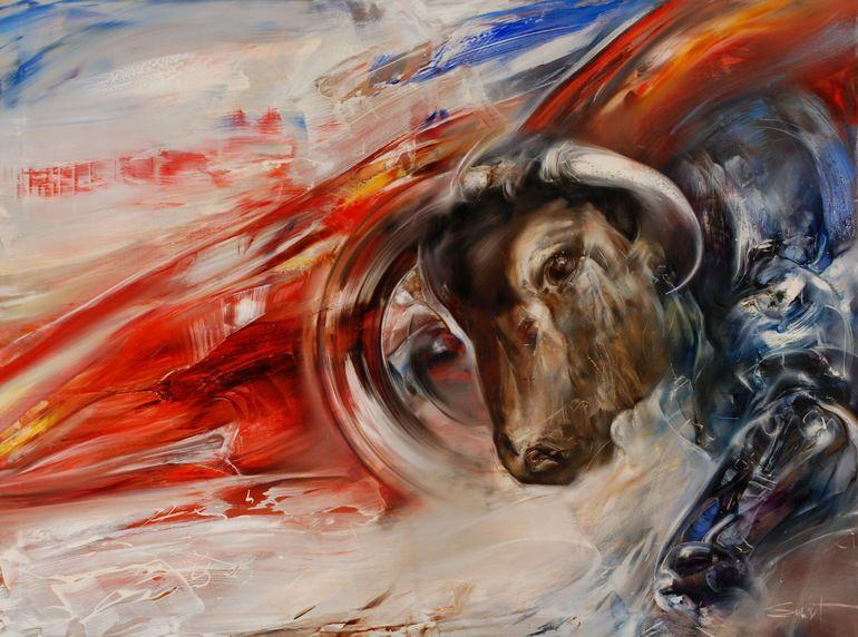 """Stas Sugint; Oil 2013 Painting """"Corrida"""""""