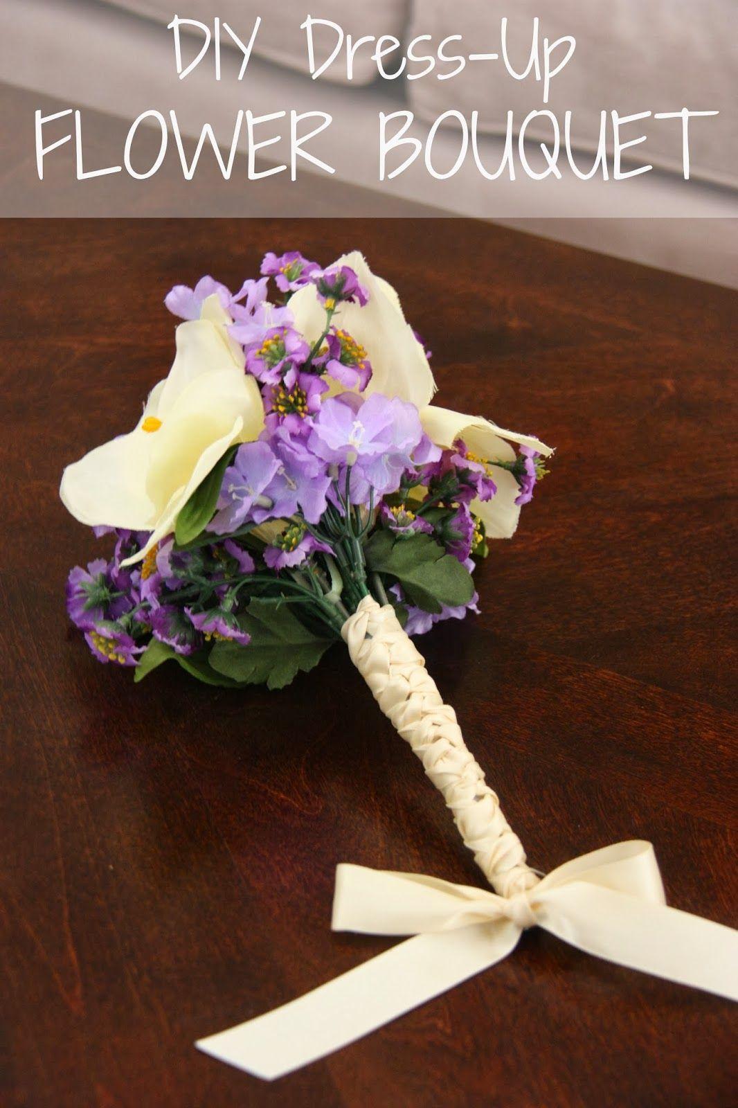Diy dress up flower bouquet for rapunzels wedding dress