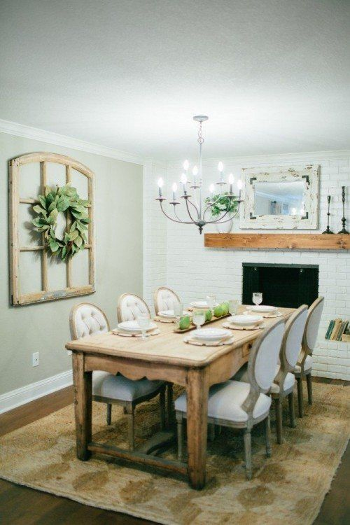 Fixer Upper Fixer Upper Dining Room Farmhouse Dining Room Chic