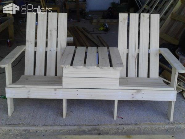 Genial Adirondack Jack U0026 Jill Chair From Pallets Pallet Benches, Pallet Chairs U0026  Stools