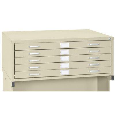Sandusky Flat Files 5 Drawer Filing Cabinet Color: Putty
