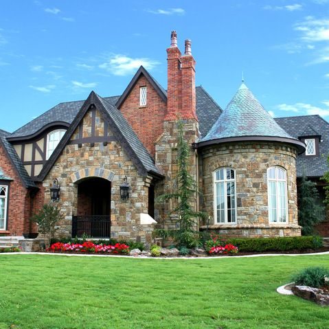 Turret Design Ideas Pictures Remodel And Decor Tudor Style Homes Exterior Brick Tudor House