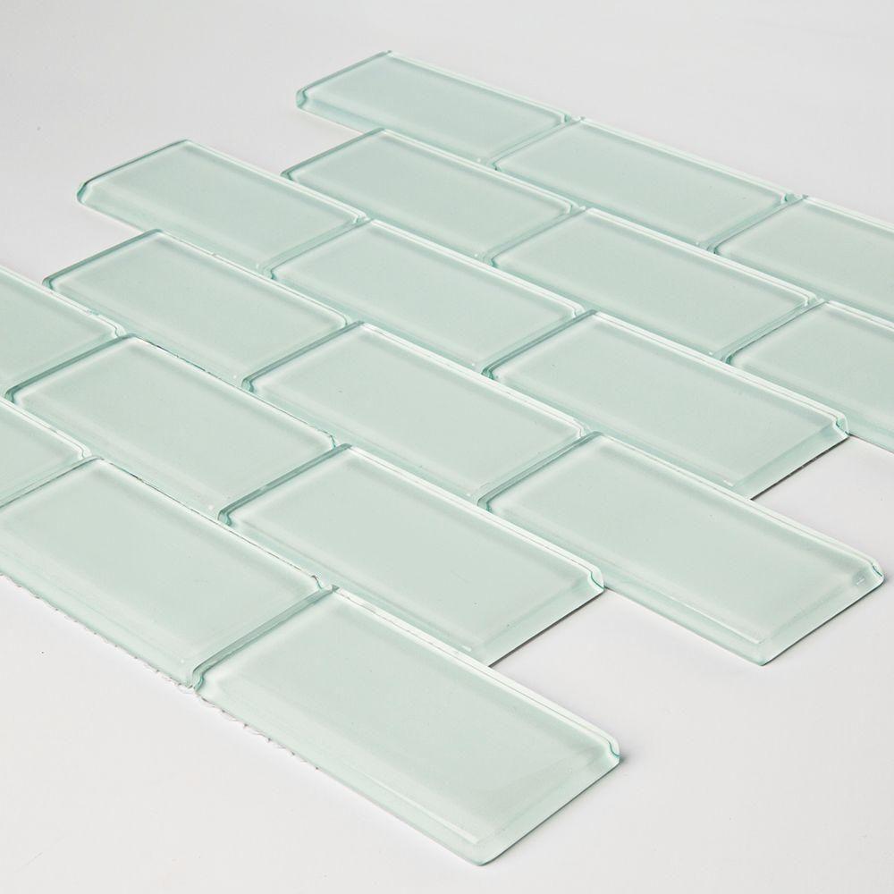 Jeffrey Court Siberian Gloss 11-5/8 in. x 12-5/8 in. x 8 mm Glass ...