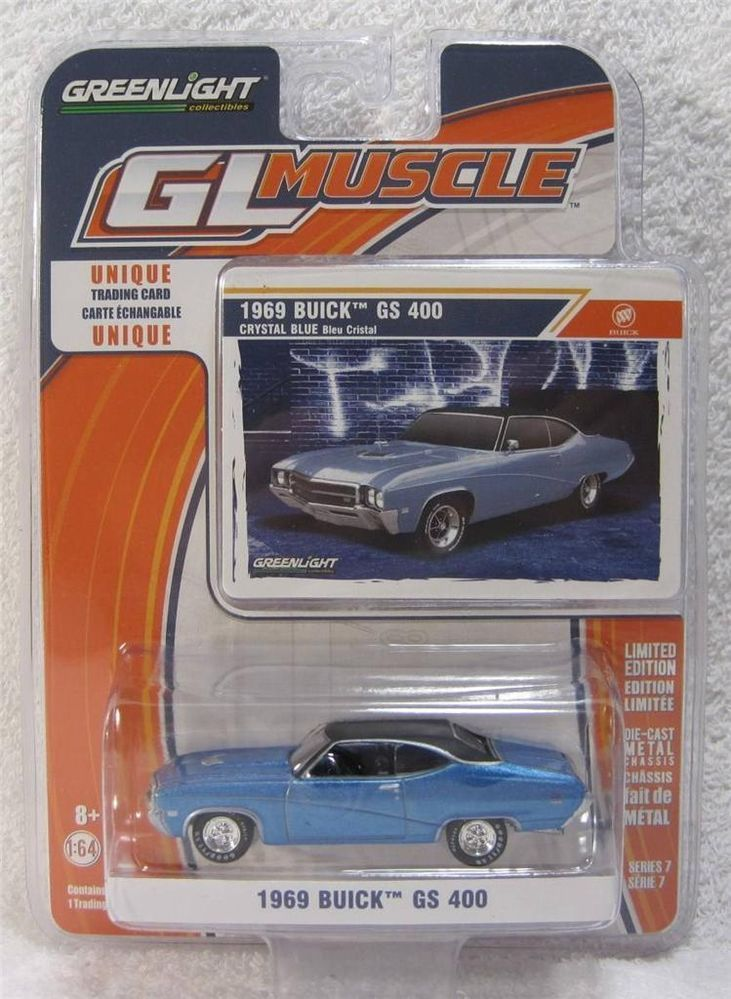 GREENLiGHT GL Muscle 1969 Buick GS 400 1:64 diecast w/Trading Card ...
