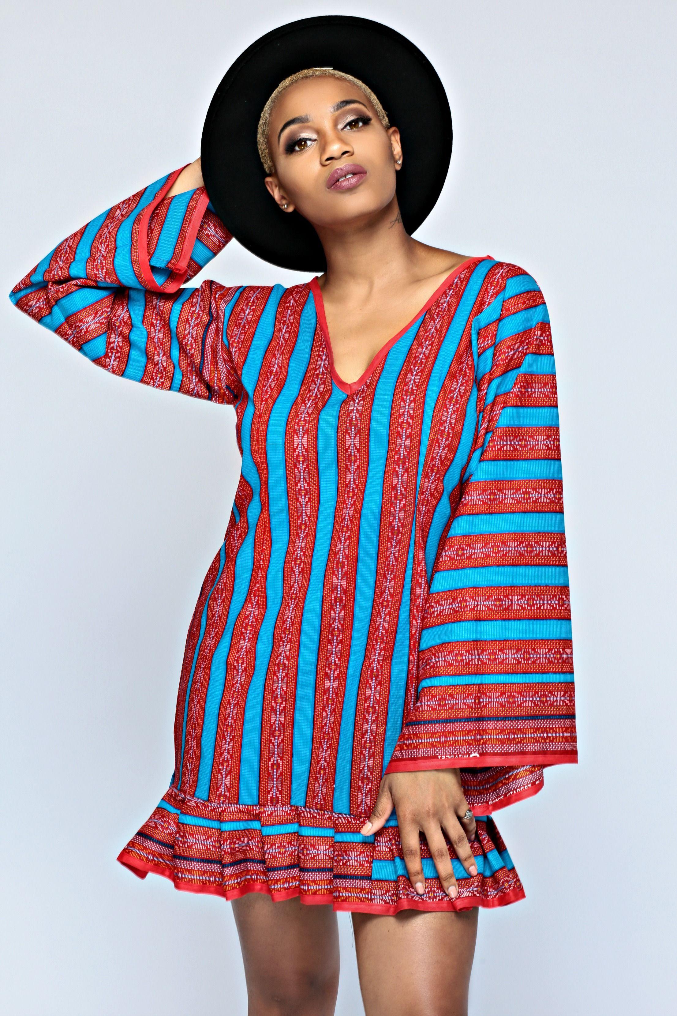 Menogu Designs - African Gown - short red Dress, Wedding, Style ...