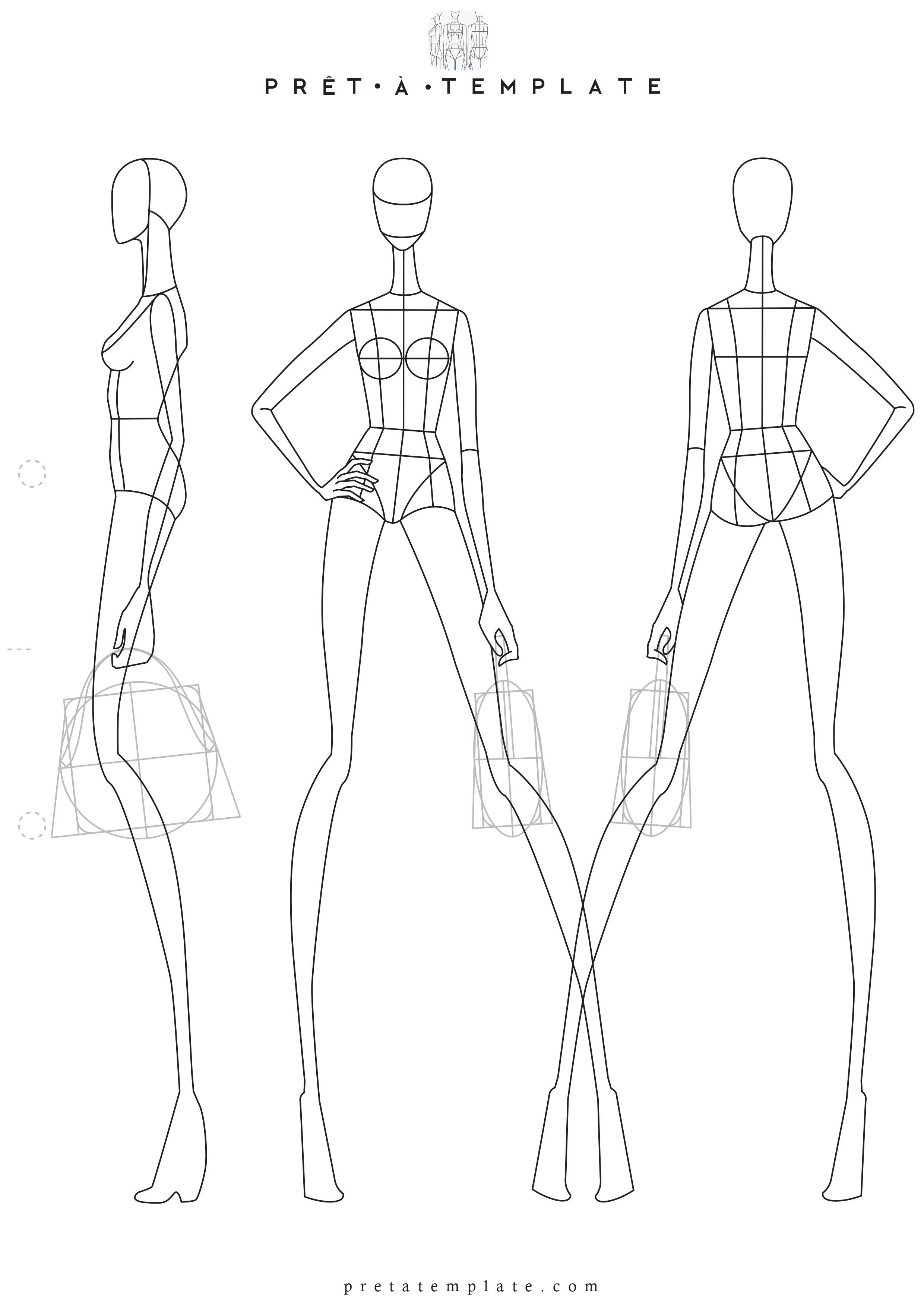 Woman Body Figure Fashion Template D I Y Your Own Fashion Sketchbook Keywords Fashion