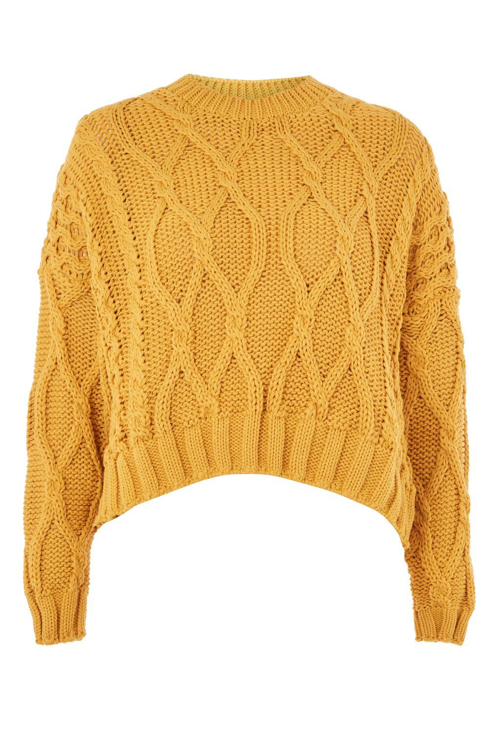 1b541366bd6 Cropped Cable Sweater | Clothes | Chunky cable knit sweater, Cable ...