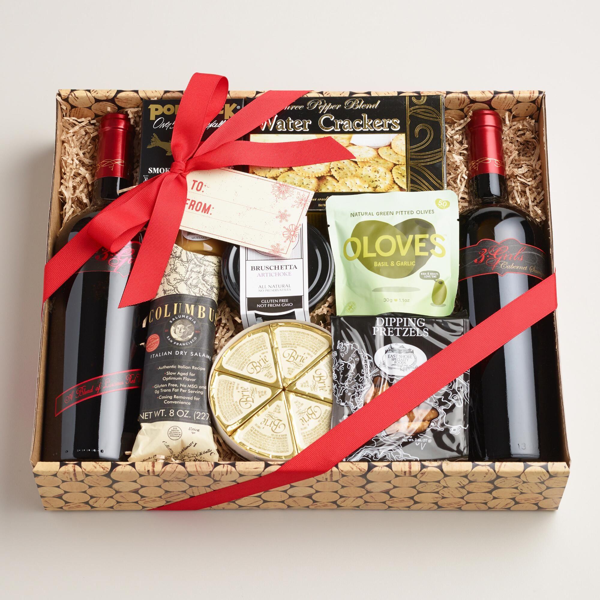 Savory Two Bottle Wine Basket Wine Baskets Valentine S Day Gift Baskets Basket