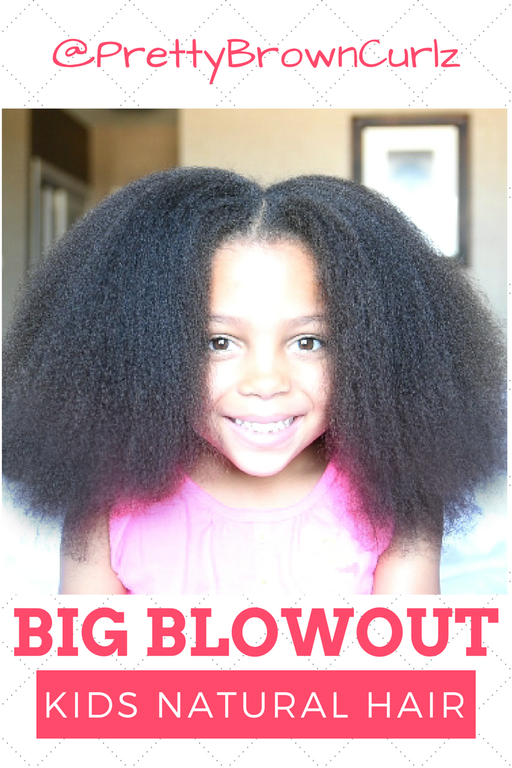 I Used This Kids Natural Hair Blowout Tutorial To Create Big Hair Look On Her 4a 4b Hair W Natural Hair Styles Natural Hairstyles For Kids Natural Hair Blowout