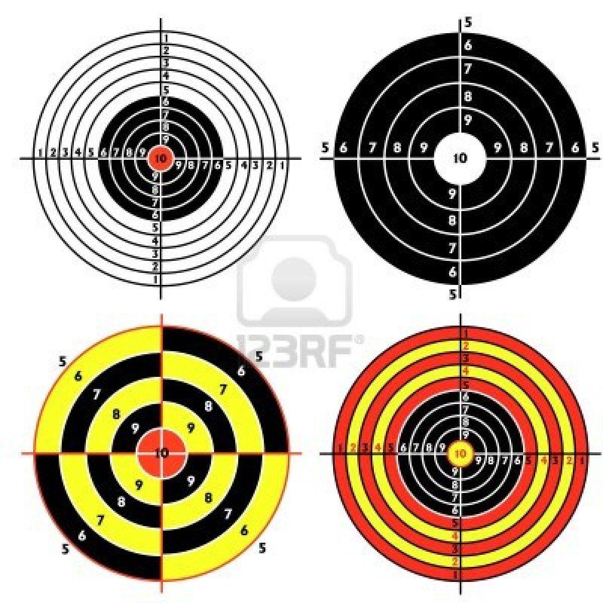Stock Vector Pistol targets, Shooting targets, Target