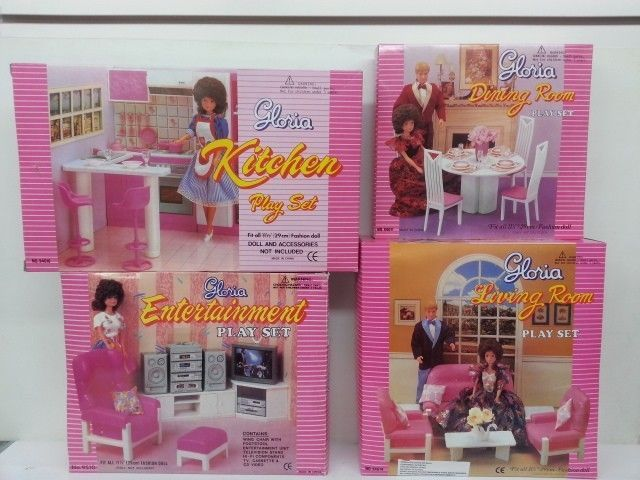 Gloria, Barbie Doll House Furniture,Kitchen,Dining,Entertainment ...