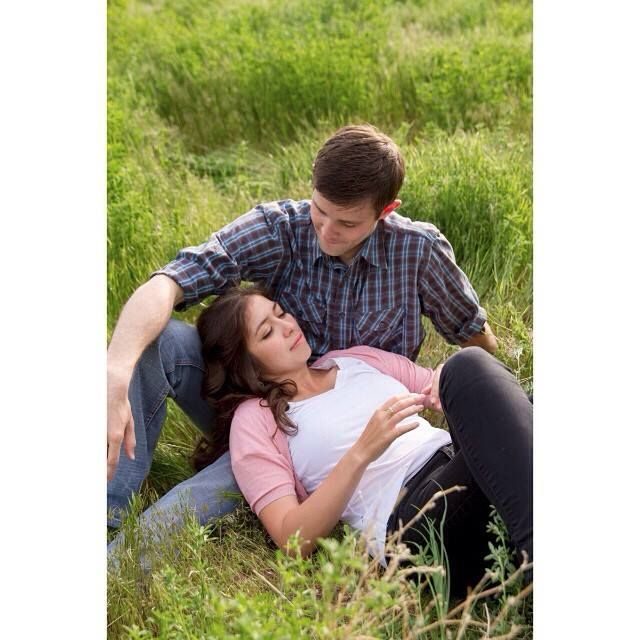 Engagements in tall grass. photo by: moxiephotography.com