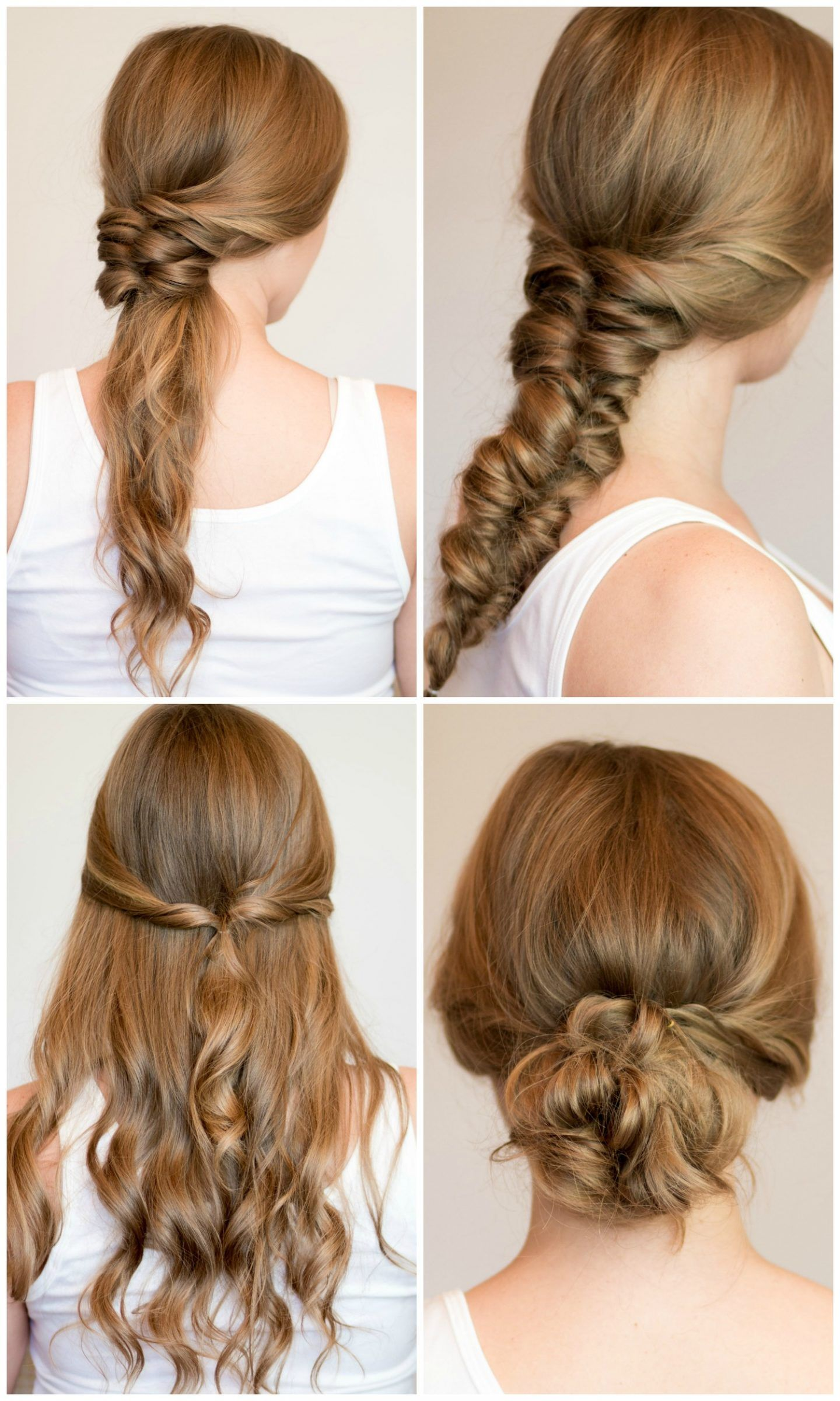 4 Easy Heatless Hairstyles For Long Hair Heatless Hairstyles Long Hair Styles Braids For Long Hair