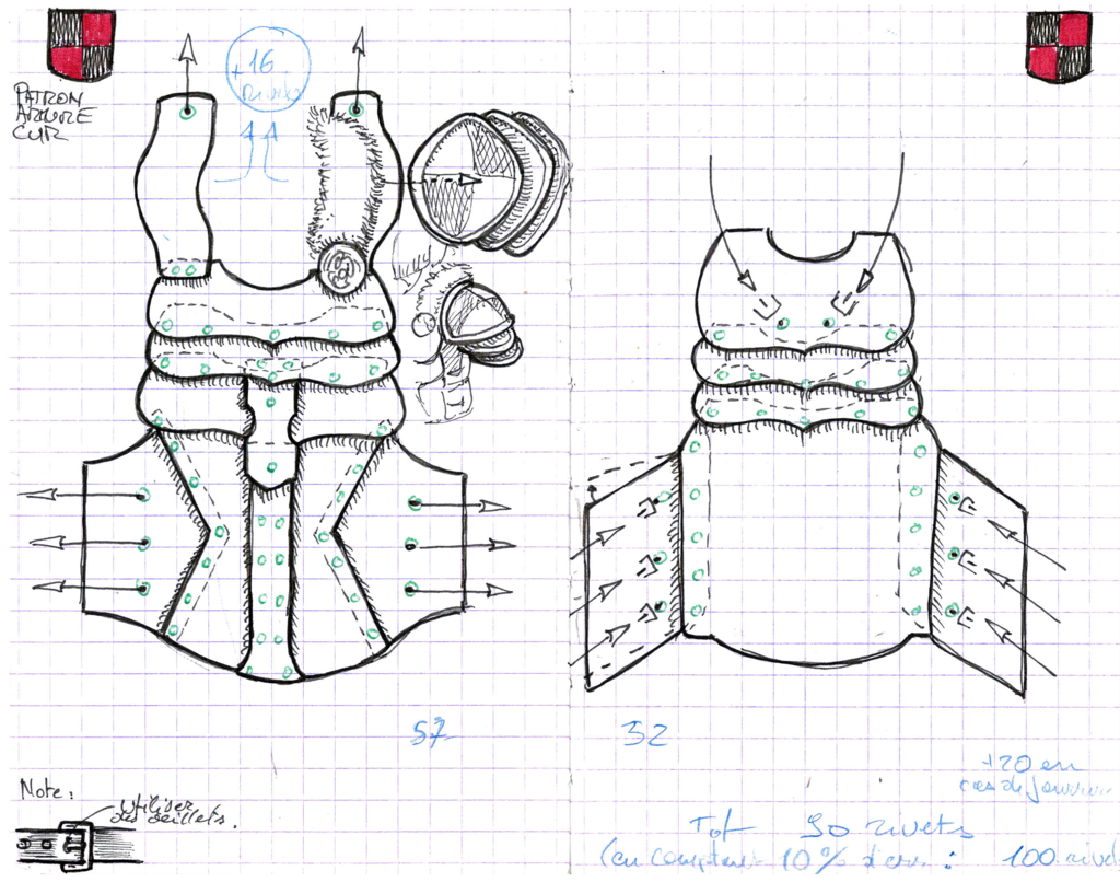 Leather Armor Pattern By Astanaelviantart On