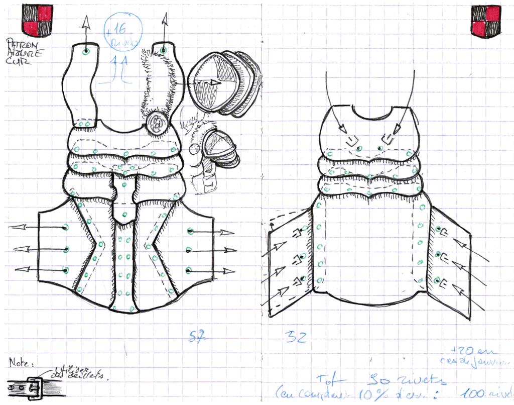 Leather Armor Pattern By Astanaelviantart On