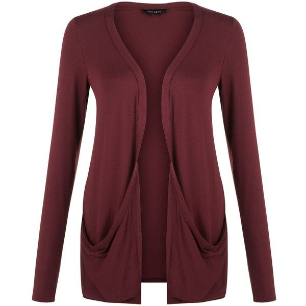 New Look Burgundy Boyfriend Cardigan (€15) ❤ liked on Polyvore ...