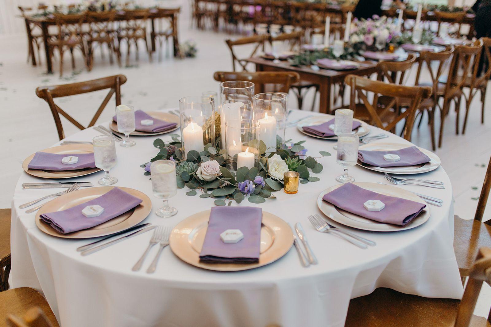 Candle Centerpiece Eucalyptus Flower Centerpieces Wedding Candle Wedding Centerpieces Lavender Centerpieces