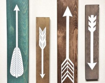 Photo of Set of 3 Wooden Arrows, Rustic Decor For Wall, Farmhouse Arrow Decor, Rustic Wall Hanging Nursery Decor, Wooden Arrow for Gallery Wall