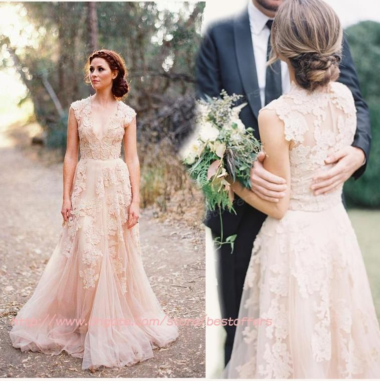 Image result for wrapped tulle wedding gown with floral appliques ...