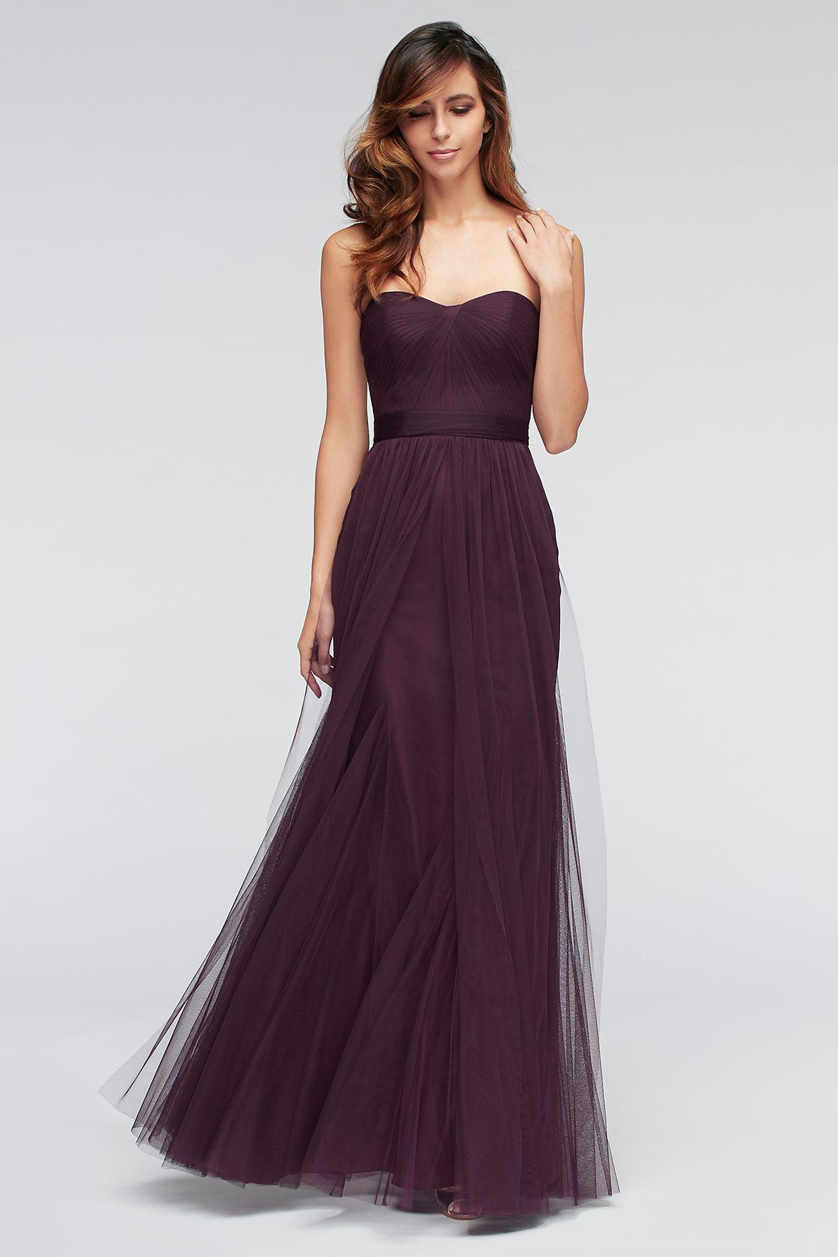 Strapless dark grey bridesmaids dress annabelle dress by jenny watterswtoo bridesmaids dress 1307 in eggplant ombrellifo Images