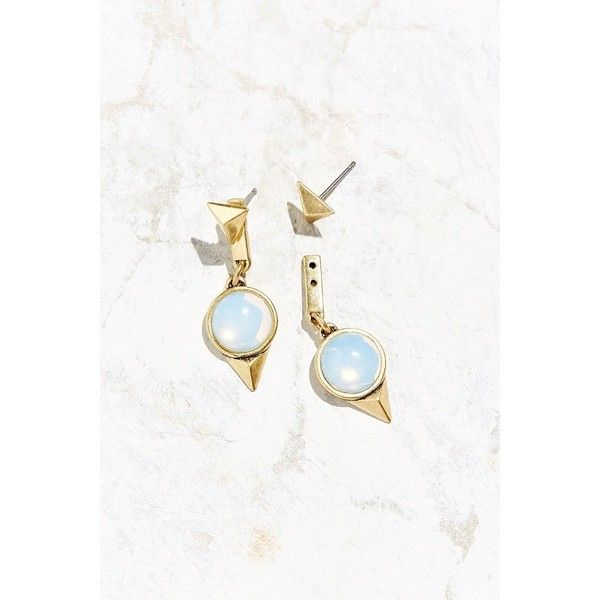 Jenny Bird Nova Orb Drop Earring (69 AUD) ❤ liked on Polyvore featuring jewelry, earrings, gold, 14k earrings, 14 karat gold earrings, pyramid stud earrings, drop earrings and 14k jewelry