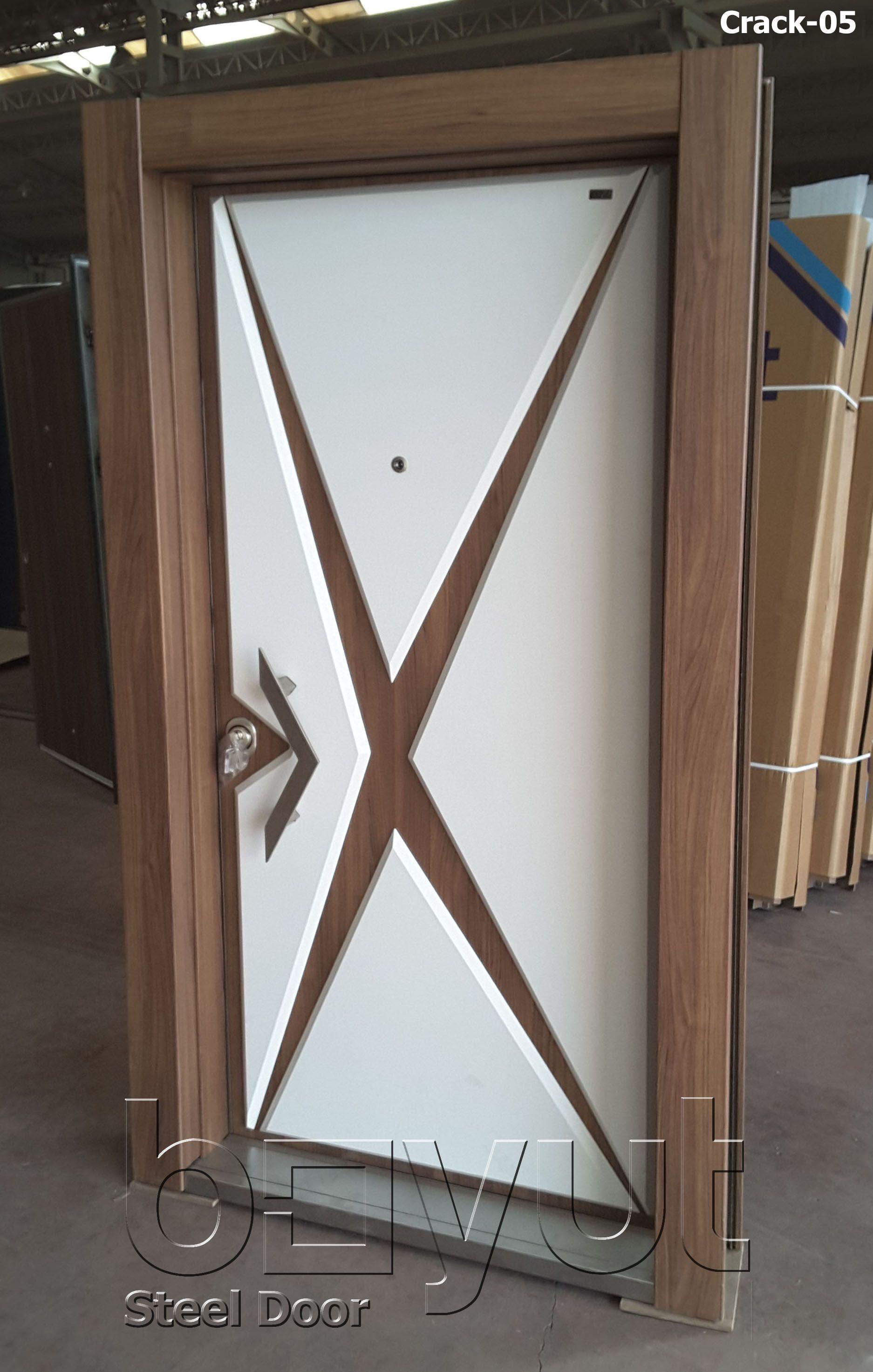 Model Crack 05 Steel Security Door Entrance Door Interior
