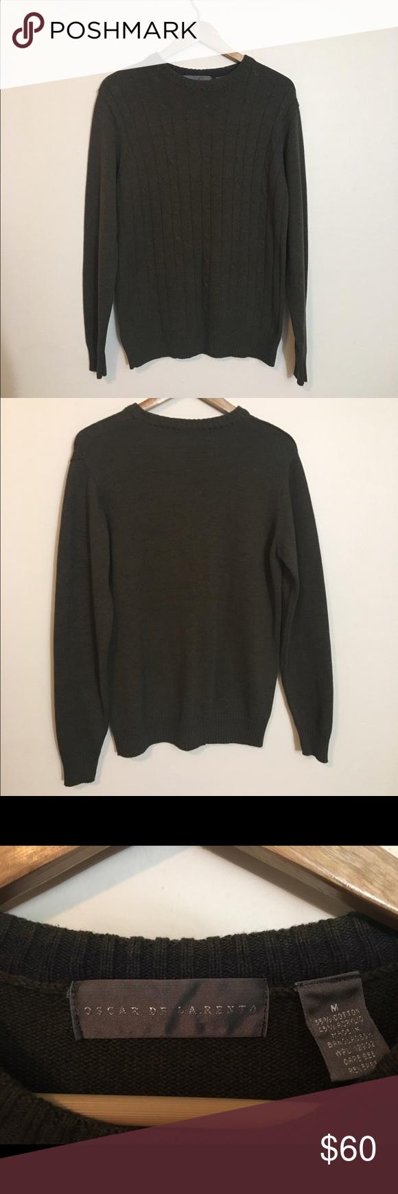 Oscar de la Renta Cable Sweater Olive green Oscar De La Renta Sweater. Oscar de la Renta Tops