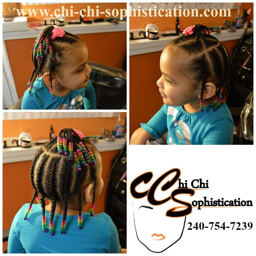 cornrows for 2-year-old. basic and simple cornrows
