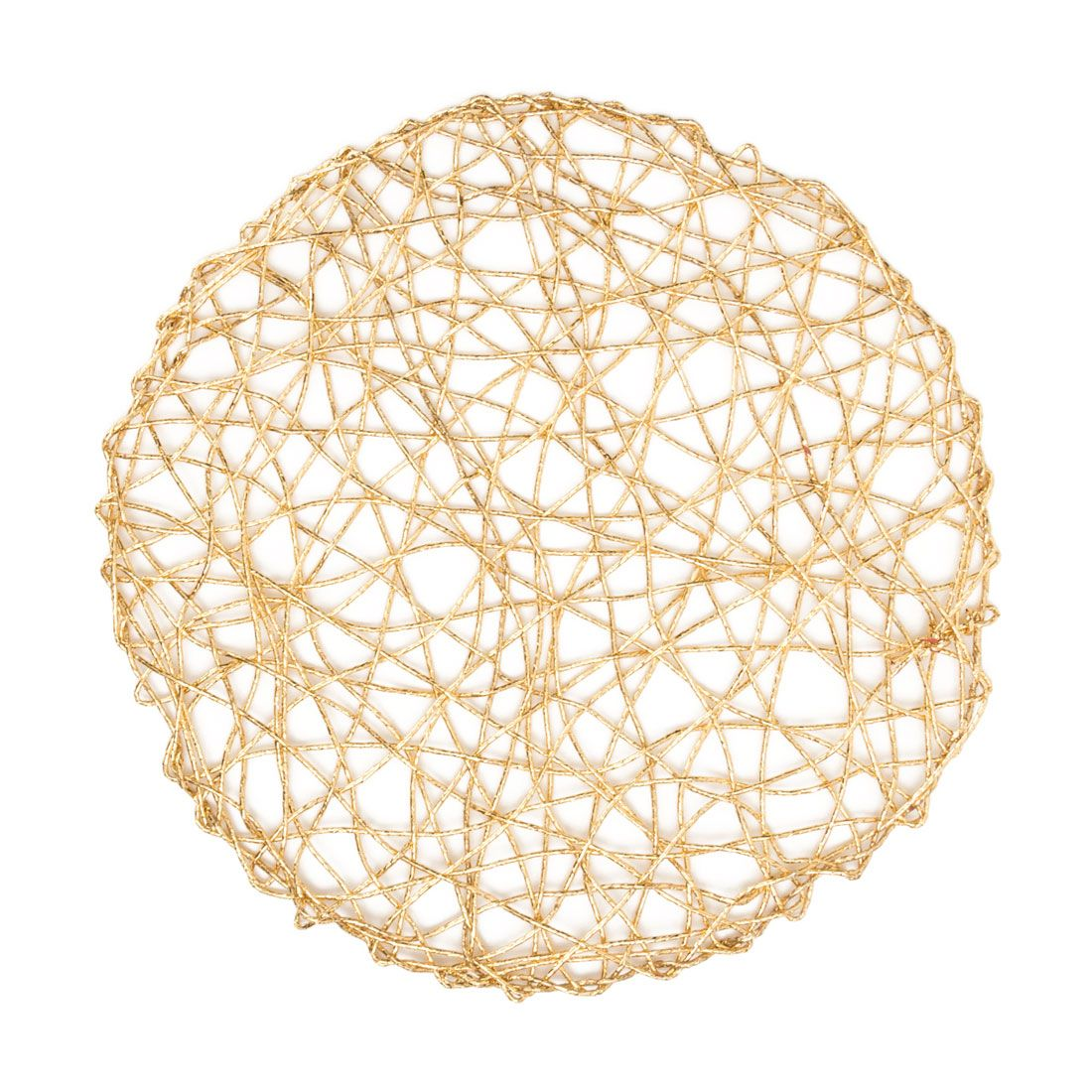 Round rope mesh placemats gold pack centerpiece ideas