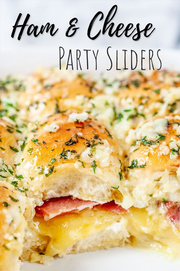 Easy Baked Ham amp Cheese Sliders - Perfect Party Food! Prep ahead recipe.