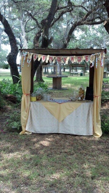 Lemonade Stand At A May Wedding Bird Island Ranch Dade City FL