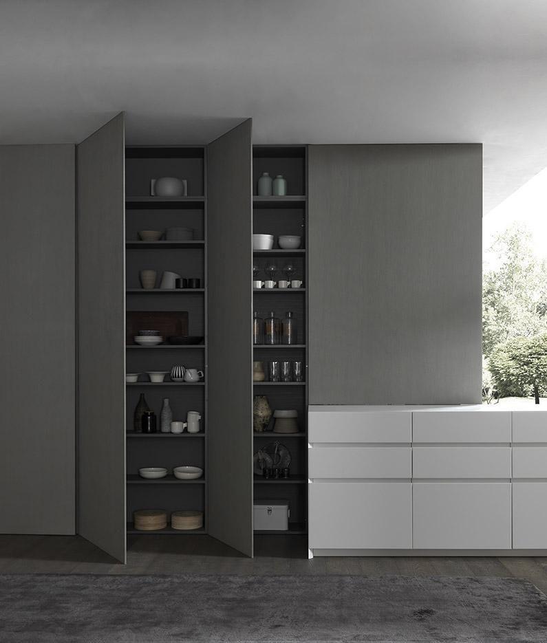 Designer Schrank für die Küche. Schlicht und dunkel. Idee für mehr ...